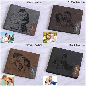 Amazing Engraved Photo Leather Men's Wallet
