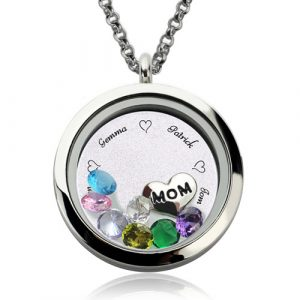 Exuberant Customizable Engraved Floating Charm Locket For Mom or Grandma