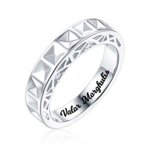 Florid Personalized Love Bridge inspired With Birthstone Promise Ring
