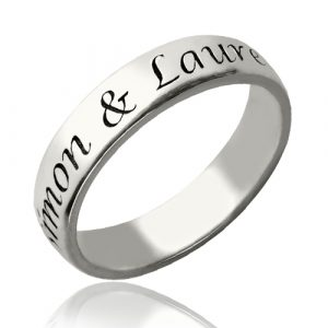 Low-Key Personalized Promise Name Ring Sterling Silver