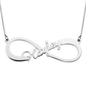 Splendid Personalized Single Infinity Name Necklace In Sterling Silver