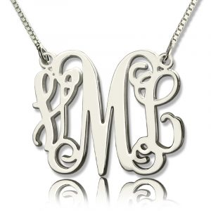 Top Quality Personalized Monogram Initial Necklace Sterling Silver