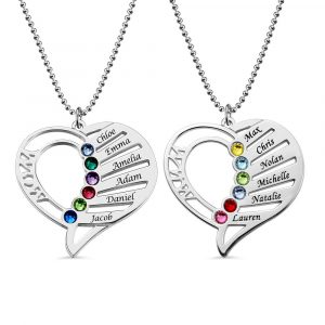 Mom Necklace Birthstone Necklace for Mom Birthstone Necklace Mothers Necklace